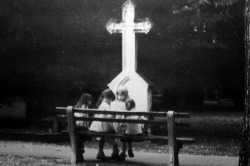 colettesaintyves:  Girls playing in the cemetery of Bratislava, Slovakia on Flickr.