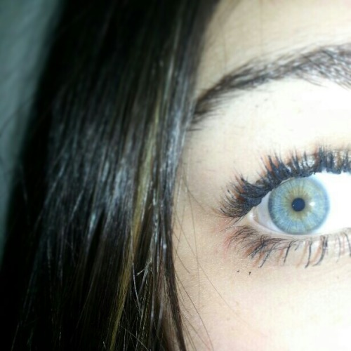 #blueyes #lashes #mine #greeneyes #puertorican #pretty #mascara