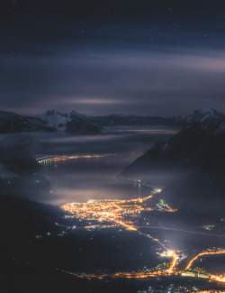 somethingvain:  night sky over switzerland by david kaplan