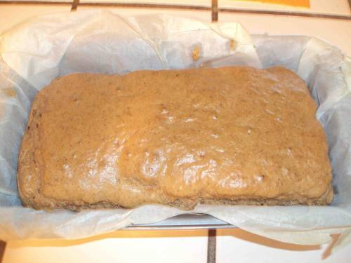 I never get tired of taking pictures of paleo almond butter bread.  This baby will be cut into slices, toasted, and treated to a bed of arugula salad, and a dollop of paleo chopped liver, made fresh this morning.  Dinner is made for the next few days!  Pictures soon!  Ugga-Bugga!