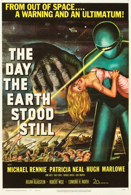 skbird:  The Day the Earth Stood Still (20th Century Fox, 1951). One Sheet