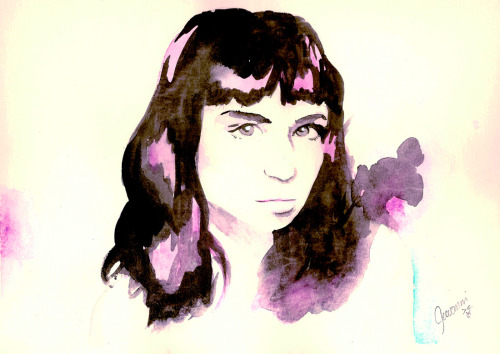 Claire Boucher/Grimes in watercolor.