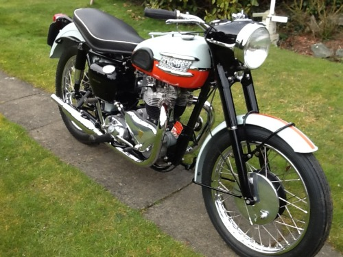 gibsart:  Triumph Tiger T110   Had one of these, what a blast!