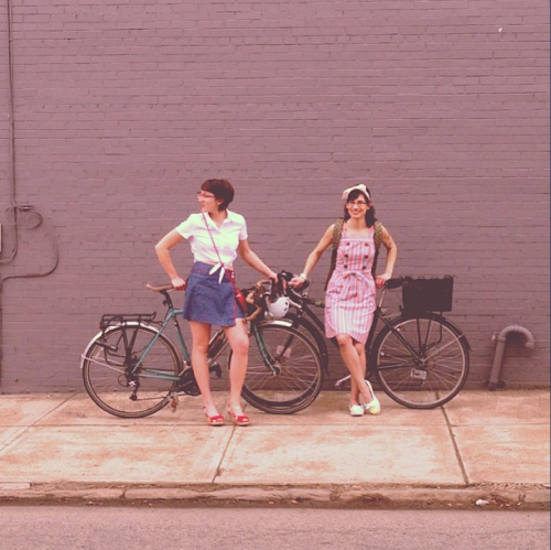 modcloth:  We were super excited to work with BikePGH for the ModCloth Blog Retro-Remix! Jane and Becca were great to work with, and we created some bike-friendly looks for them. <3 the ModStylists