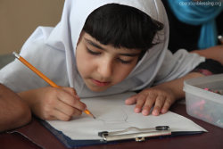 Afghanistan A young girl participates in class at a school in Afghanistan. Today, will you join us in praying for greater access to education for young girls in Afghanistan and throughout the Middle East? Sign Up to get Photo Prayer of the Day sent to your inbox!
