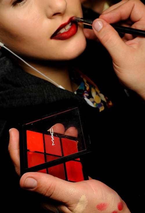 More red at Kenneth Cole! The added depth of this is beautiful and really brings a velvety texture. I feel like I'm on red lip watch! Photo credit mac cosmetics.