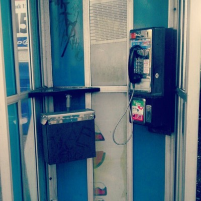 Last pay phone on earth!