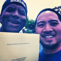Delivered a copy of my master's thesis to Mr. Will Randolph of the Black Resurgents earlier today! #brs #oaklandboogaloo #oakland #boogaloo #bayarea #streetdance #history #penguin #blackresurgents #thefunkbehindbayareastreetdance #sfsu