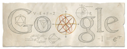 Google celebrates the 306th birthday of Leonhard Euler, a pioneering Swiss mathematician and physicist, who made important discoveries in field as diverse as infinitesimal calculus and graph theory. (via Google)