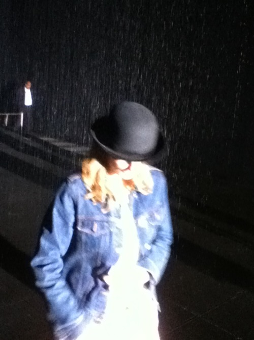The Rain Room at Moma, or a contemplative midnight hour?