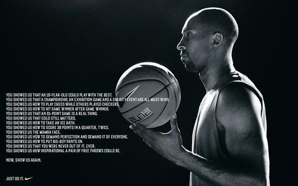 Kobe Bryant - #COUNTONKOBE to show us again. @KobeBryant