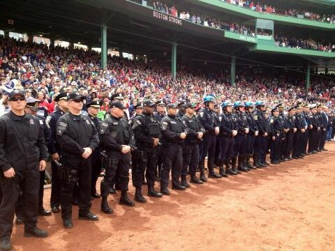 A powerful image from today's pregame tribute in Boston… A Fenway day like no other