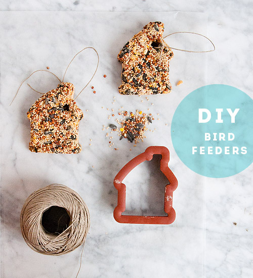 DIY bird feeder via Design Sponge