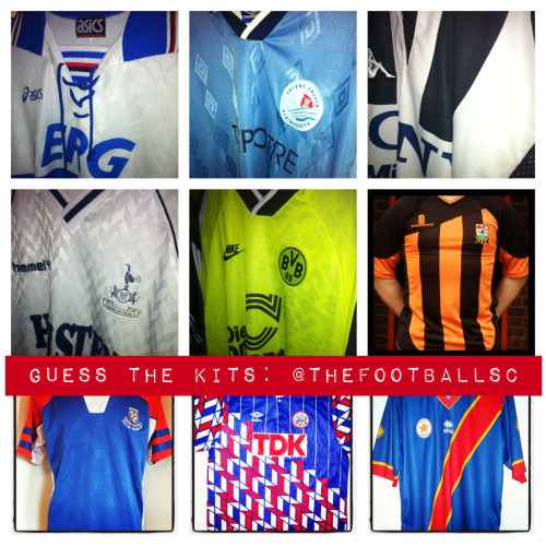 You know what to do people. Guess dem kits.   Let us know on twitter @thefootballsc on by guessing below.