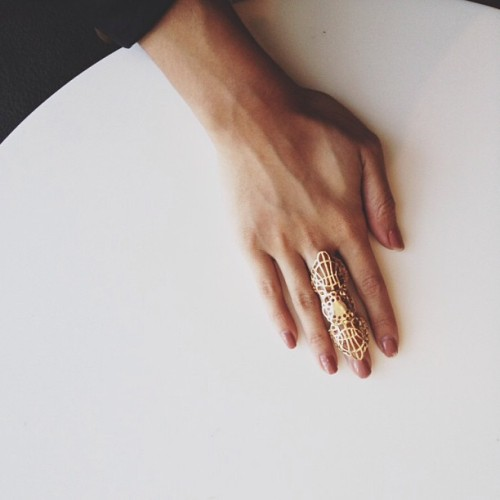 Stay golden. #loveculture #ring #accessories #sallyhansen