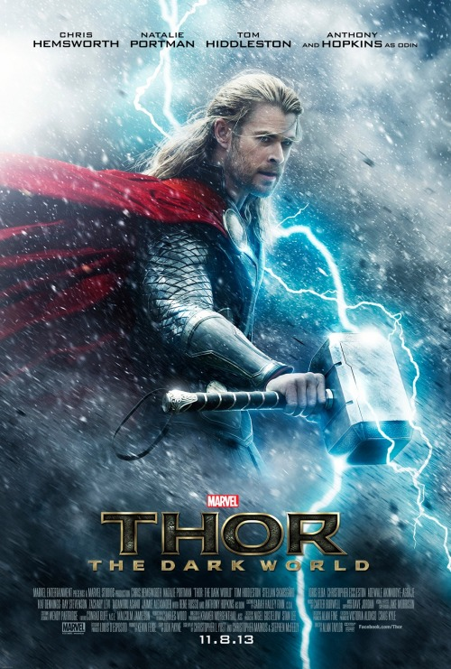 marvelentertainment:  It's here, Thor fans! The new poster for Marvel's Thor: The Dark World has arrived! Check it out now and don't forget to mark your calendars for the teaser debut next Tuesday, April 23 at iTunes Movie Trailer!     Yes! My mom is gonna be stoked!!