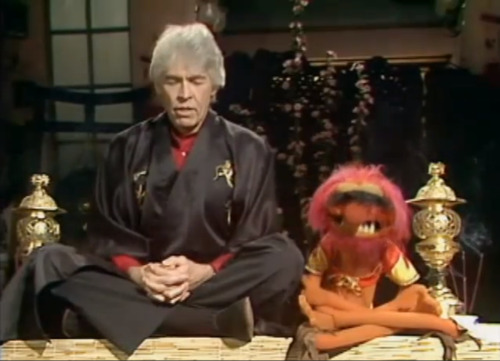 Remember when James Coburn taught Animal to use meditation to control the chaos and violence that churned within him?