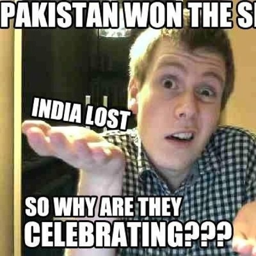 Even the gorray knows.            #pakvsind#desi#pakistan#india#punjabi#cricket#series#t20#odi