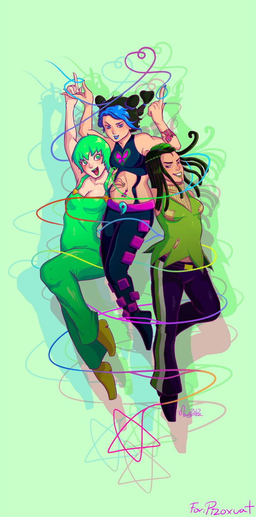 This is my Jojo Secret Santa gift for Pizoxuat! : D