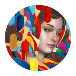 "erikjonesart:  Erik Jones / ""Earth Bound/ Colored Pencil, Watercolor, Acrylic, Wax Pastel, Oil, On Rives bfk / 2013 / 12""x12"""