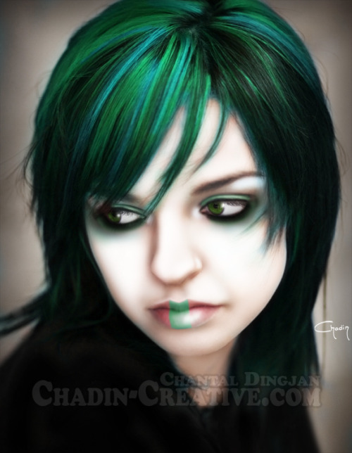 """GREEN SADNESS"" - illustration by CHADIN"