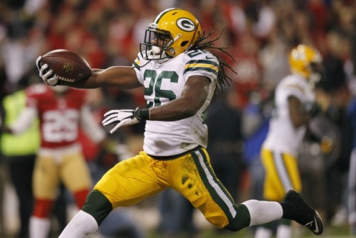 DuJuan Harris supplied a late-season spark, but the Packers could look at running backs in free agency. (USATSI)
