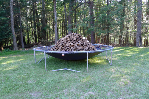 Grayson Revoir Justifying the Fell Trampoline and wood 15 x 6 Feet 2011