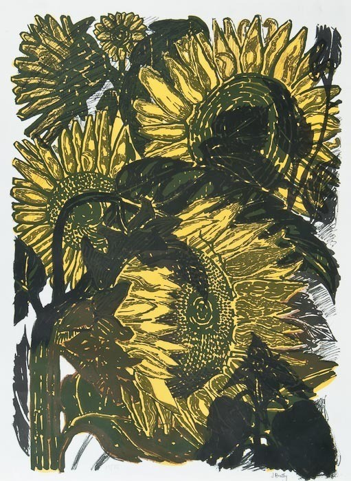 Sunflowers II, John Bratby. English (1928 - 1992)