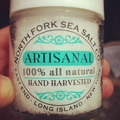 Www.northforkseasaltco.com. Amazing fleur de sel from  Long Island.  (at Tanger Outlet Center)