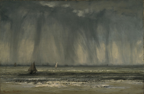 mythologyofblue:  Gustave Courbet, The Waterspout, 1866