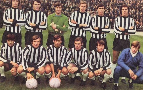 Notts County FC 1970/71  Back row; Needham, Barker, Watling, Stubbs, Hateley, Worthington Front row; Nixon, Brindley, Masson, Jones, Crickmore, Bradd