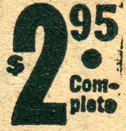 "newhousebooks:  ""$2.95 complete"" Geez I really love ink gain. Ad from the Trail Blazer's Almanac and Pioneer Guide, 1943."