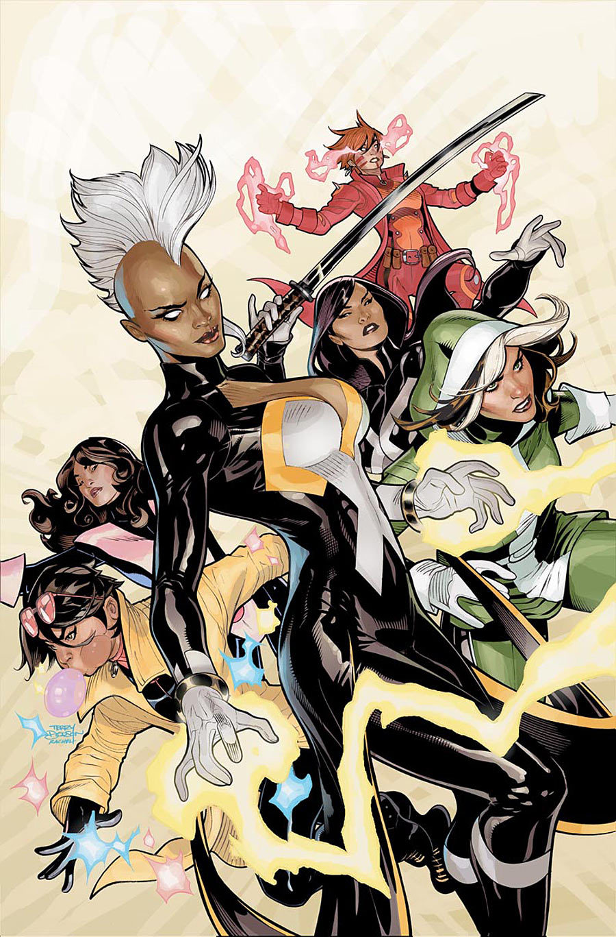 dudetube:  Loving this Terry Dodson variant for the upcoming all-female X-Men series