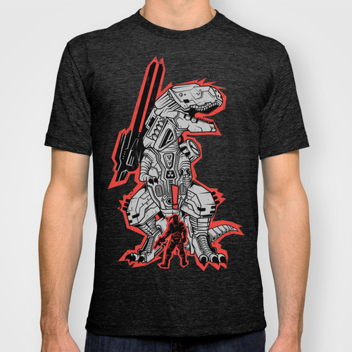Metal Gear T.REX Is now available on RedBubble and Society6