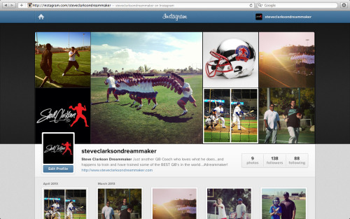 A picture says a 1000 words…check out the Instagram! http://instagram.com/steveclarksondreammaker