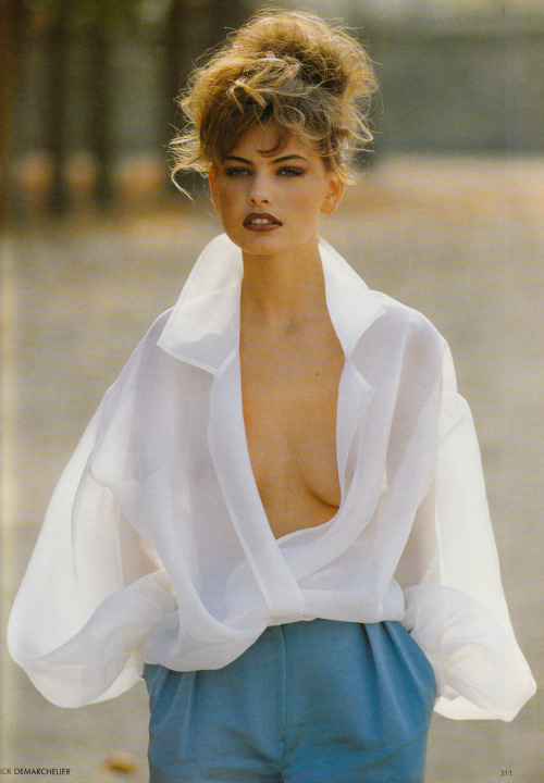 """Italian Virtuosos"", Vogue UK, March 1990Photographer : Patrick DemarchelierModel : Gretha Cavazzoni"