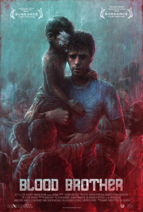 Blood Brother Poster - Illustration by Sam Spratt I illustrated the poster for the winner of Best Documentary at the Sundance Film Festival. It's a gorgeous and refreshingly self-aware film that I'm happy to be a part of in some small way. It will be making its way around, but I believe the next upcoming screening will be at Sundance London — so you should see these plastered around if you're in the area.
