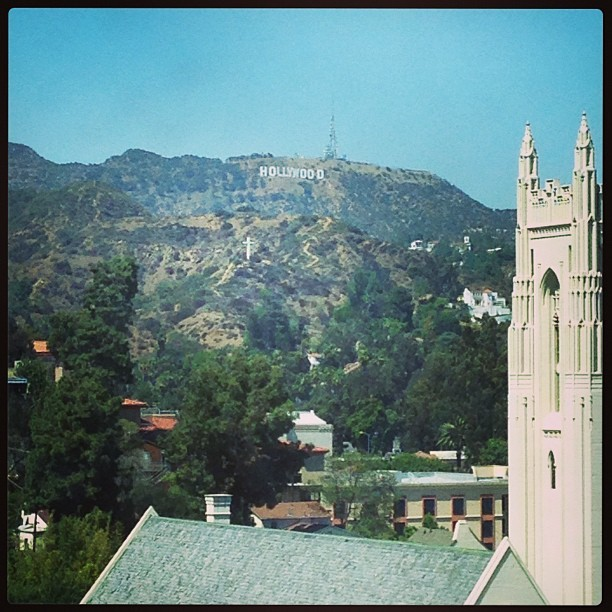This year's view from my #rookiepremiere room. #la #hollywood #ca (at Loews Hollywood Hotel)