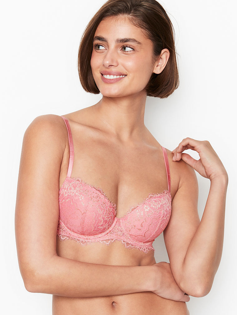 Taylor - VS Dream Angels - Lightly Lined Shimmer Lace Demi Bra #Taylor Marie HIll #VS Dream Angels#demi bra#lace#shimmer#lightly lined#mesh #light as air #delicate#feminine#comfort#style#empowering#beauty#body#Victorias Secret#Angel#January 21