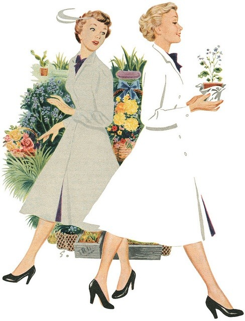 theniftyfifties:  Illustration from a Persil washing powder advertisement. 1953.