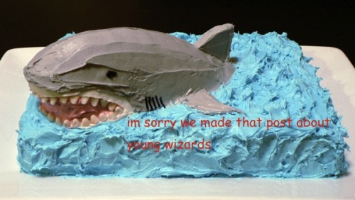 sharkie335:  dduane:  peridexis:  @robotamputee ed is sorry  You know you've made it when cakes start turning up. :)  I just want the shark cake :)  *plots*