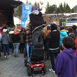 Swollen Members heal people.  (at Whistler Skier's Plaza)