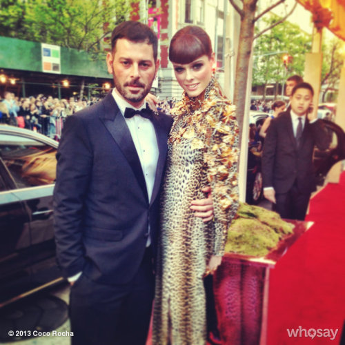 With my handsome date Fausto Puglisi at his first Met Gala! View more Coco Rocha on WhoSay