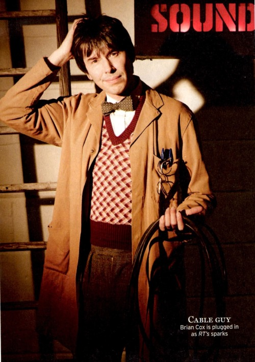 brianscox:  the-wonder-of-briancox:  Brian Cox dressed as a 50s BBC Sound Man for some reason. In this weeks issue of Radio Times BAFTAS insert.  He looks like our physics lab technician, except 20 years younger and with hair. ish.