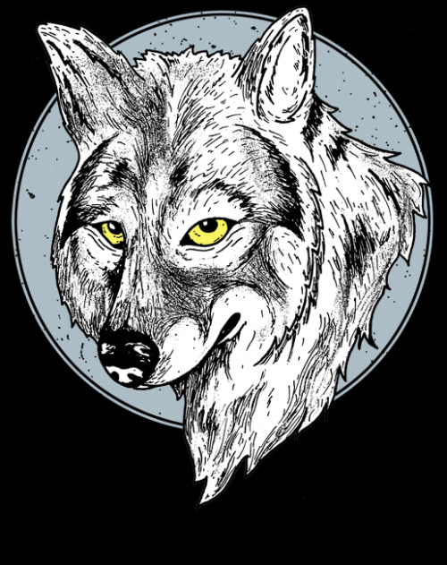 Heres a wolf head that was for a shirt design that got rejected.