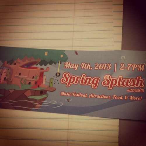 Got my Spring Splash ticket!! @mcm_910 u owe me a Ferris Wheel ride!! #ferriswheel #rockclimbingwall (at (HUB) Highlander Union Building)