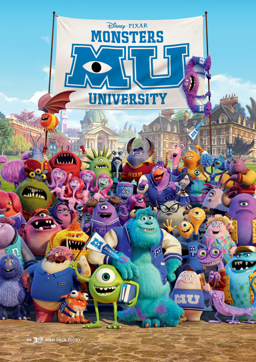 Free Monsters University Poster in the latest Total Film Magazine - Issue 207!