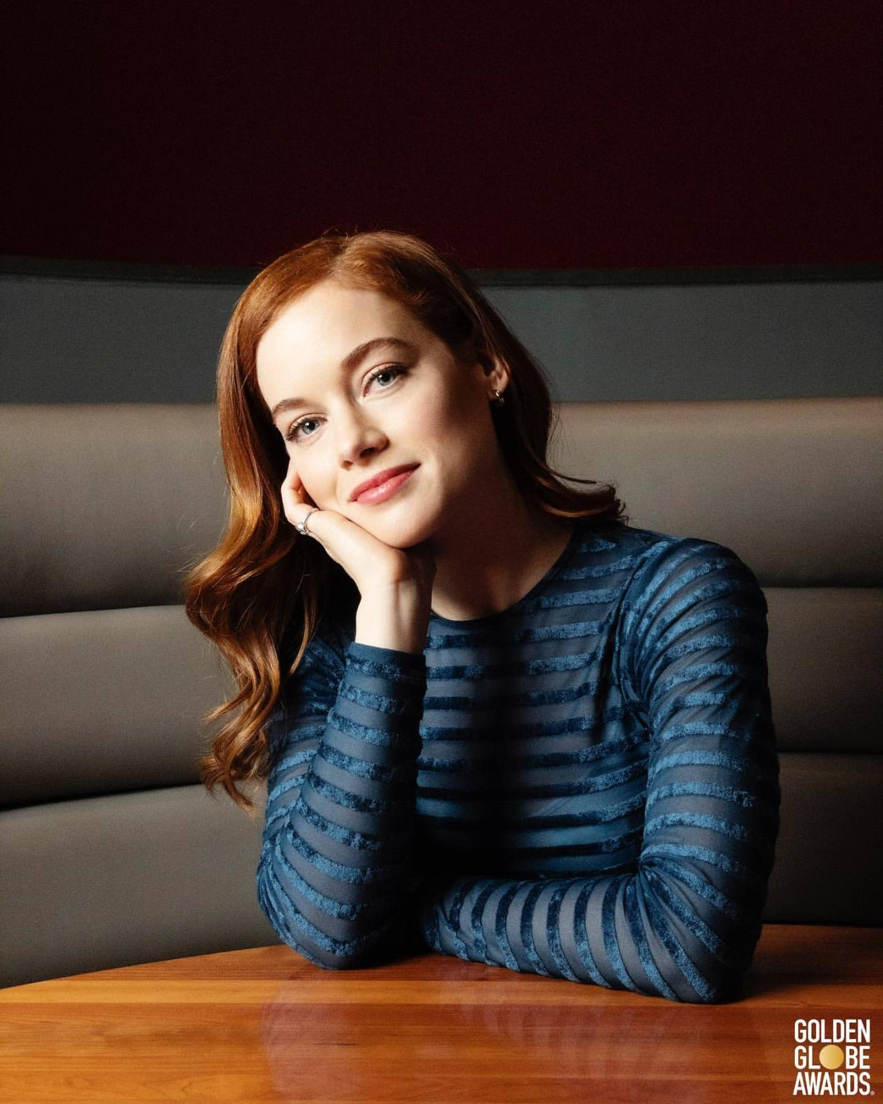 Jane Levy - 2021 Golden Globes portrait #Jane Levy#Golden Globes
