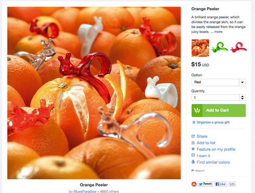 Bunny orange peeler. Via The Fancy.