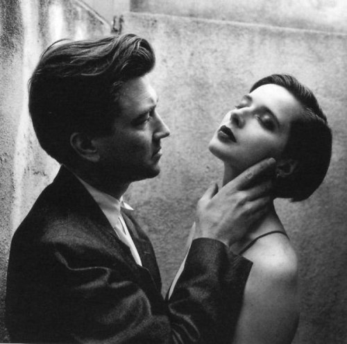 David Lynch & Isabella Rosellini, 1988. Director and his muse